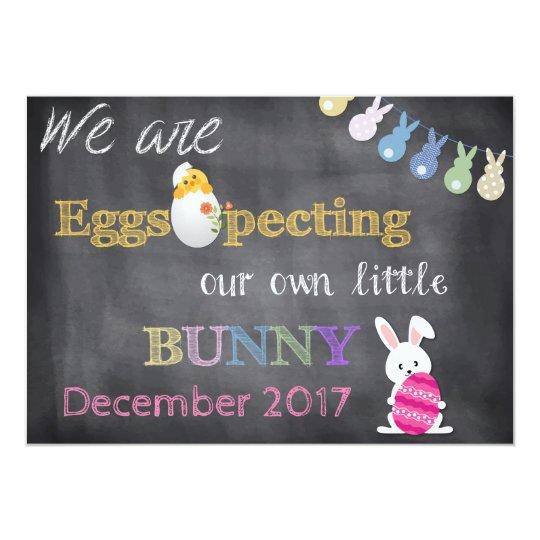 Eggspecting Easter Pregnancy Reveal Announcement