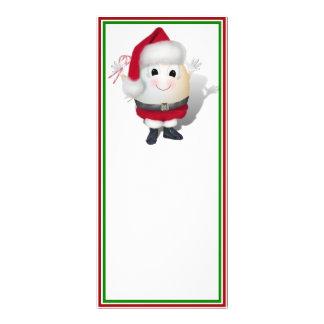 Eggstrordinary Santa Christmas Egg Custom Rack Cards