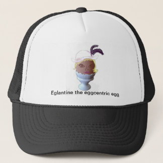 Eglantine, the Eeggcentric Egg Trucker Hat