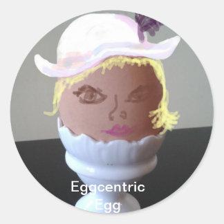 Eglantine, the Eggcentric Egg Classic Round Sticker