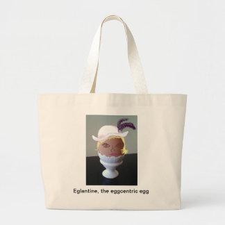 Eglantine, the Eggcentric Egg Large Tote Bag