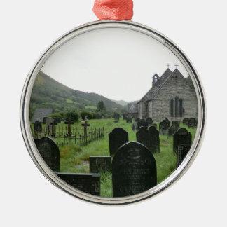 Eglwys Tydecho Sant (Llanmawddwy Parish Church) Silver-Colored Round Decoration