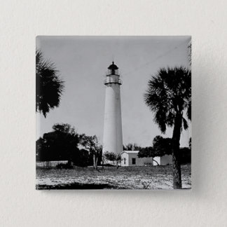 Egmont Key Lighthouse 15 Cm Square Badge
