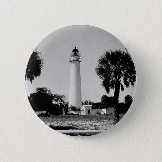 Egmont Key Lighthouse 6 Cm Round Badge