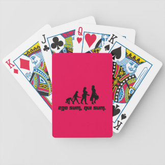 Ego sum, qui sum. 2 bicycle playing cards