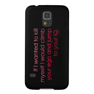 'Ego To IQ' Galaxy S5 Covers