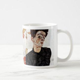 Egon Schiele and Self portrait, 1912 Coffee Mug