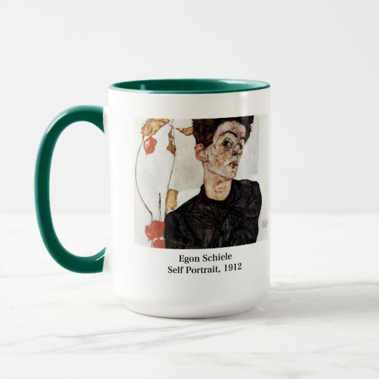 Egon Schiele and Self portrait, 1912 Mug