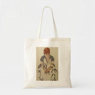 Egon Schiele- Artist's Sister in Law Budget Tote Bag