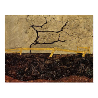 Egon Schiele- Bare Tree behind a Fence Post Cards