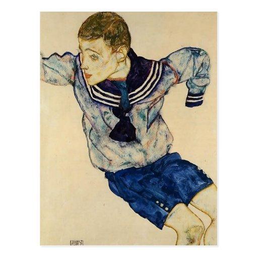 Egon Schiele- Boy in a Sailor Suit Post Cards