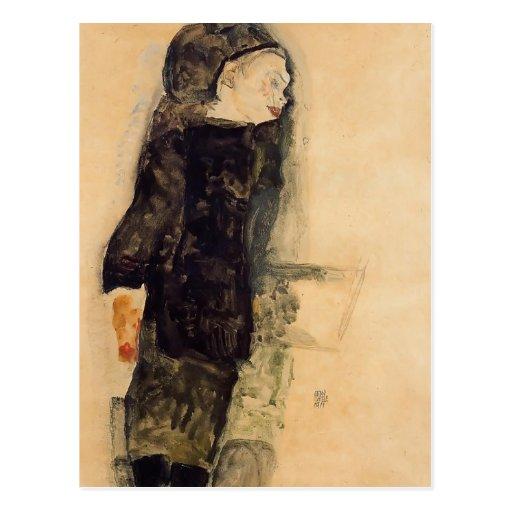 Egon Schiele- Child in Black Postcards