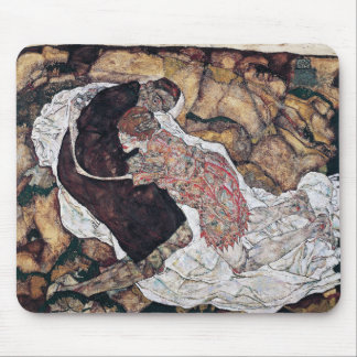 """Egon Schiele, """"Death and the Maiden"""" Mouse Pad"""