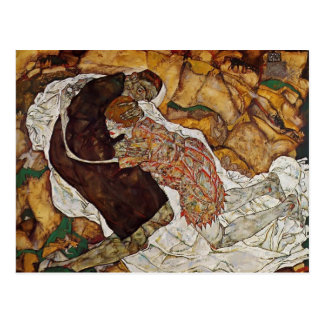 Egon Schiele- Death and the Maiden Postcard