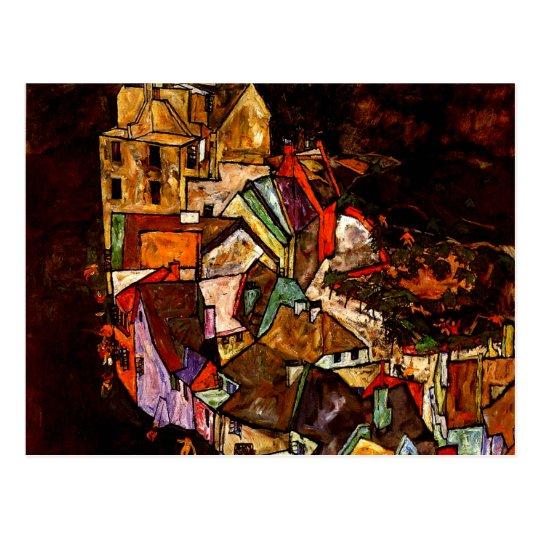 Egon Schiele - Edge of Town Postcard