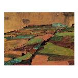 Egon Schiele- Field Landscape Postcard