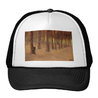 Egon Schiele- Forest with Sunlit Clearing Mesh Hat