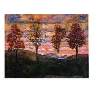 Egon Schiele- Four Trees Post Card