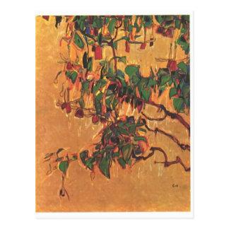 Egon Schiele- Fuchsia Postcard