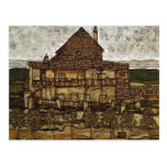 Egon Schiele- House with Shingles Postcard