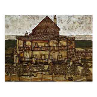Egon Schiele- House with Shingles Post Card
