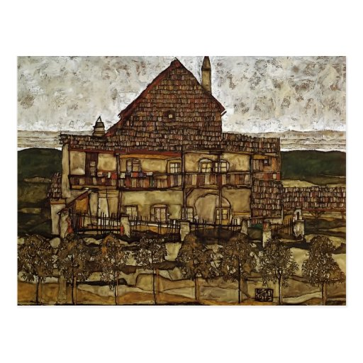 Egon Schiele- House with Shingles Post Card