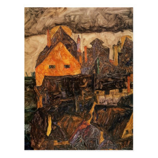Egon Schiele- Krumau on the Molde Postcard