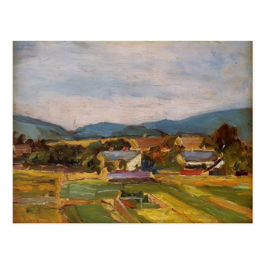 Egon Schiele- Landscape in Lower Austria Postcard