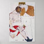 Egon Schiele - Lovers Poster