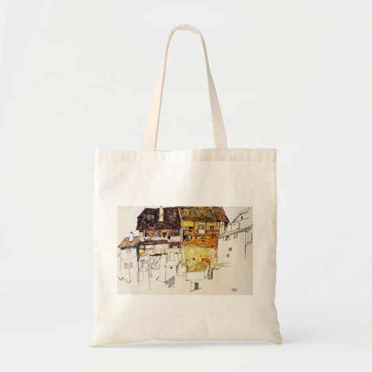 Egon Schiele- Old Houses in Krumau Tote Bag