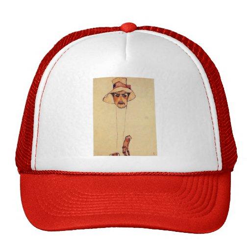 Egon Schiele- Portrait of a Man with a Floppy Hat