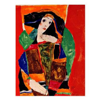 Egon Schiele - Portrait of a Woman Postcard
