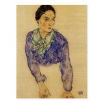 Egon Schiele- Portrait of a Woman with Scarf Postcard
