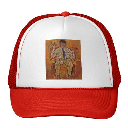 Egon Schiele- Portrait of Albert Paris Gutersloh Mesh Hats