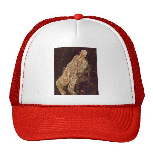 Egon Schiele-Portrait of an Old Man (Johann Harms) Mesh Hat