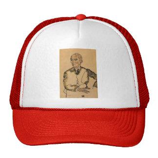 Egon Schiele- Portrait of Dr. Viktor Ritter Bauer Mesh Hat