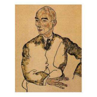 Egon Schiele- Portrait of Dr Viktor Ritter Bauer Post Card