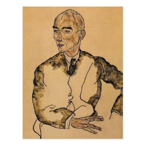 Egon Schiele- Portrait of Dr. Viktor Ritter Bauer Post Card
