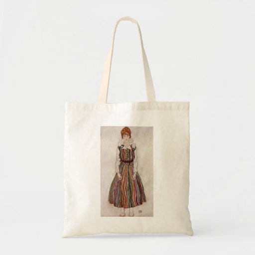 Egon Schiele- Portrait of Edith Schiele Tote Bags