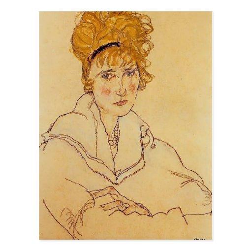 Egon Schiele- Portrait of Edith Schiele Postcards
