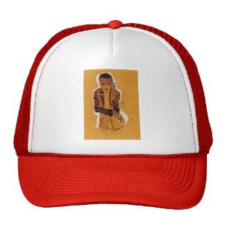 Egon Schiele- Portrait of Eduard Kosmack Mesh Hat