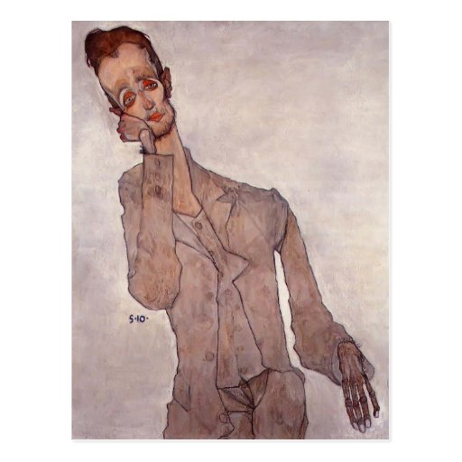 Egon Schiele- Portrait of Karl Zakovsek Post Card