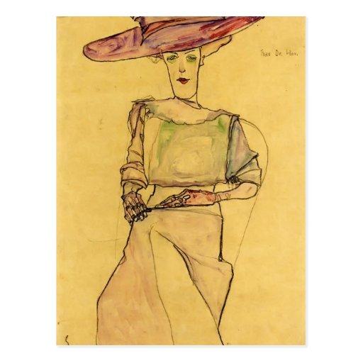 Egon Schiele- Portrait of Madame Dr. Horak Post Cards