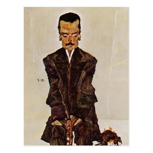 Egon Schiele- Portrait of Publisher Eduard Kosmack Postcards