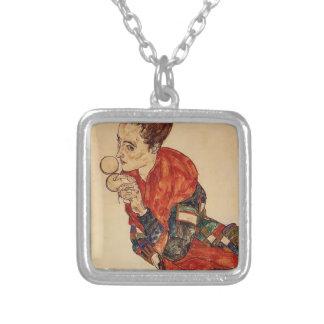 Egon Schiele-Portrait of the Actress Marga Boerner Necklaces