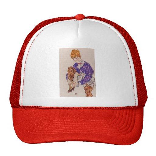 Egon Schiele- Portrait of the Artist's Wife Trucker Hats