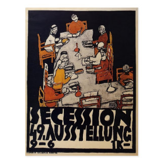 Egon Schiele- Poster for the Vienna Secession Postcard