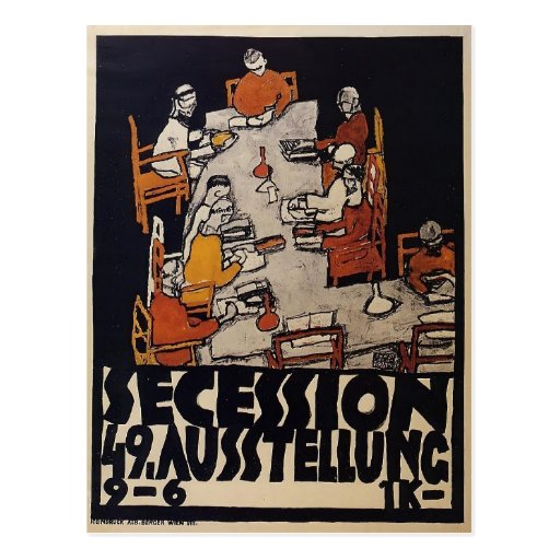 Egon Schiele- Poster for the Vienna Secession Post Cards