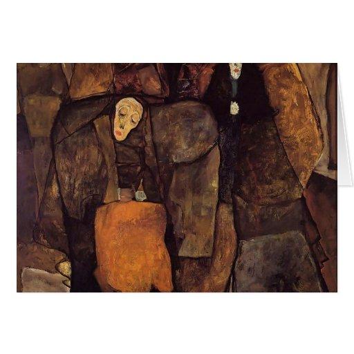 Egon Schiele- Procession Greeting Card