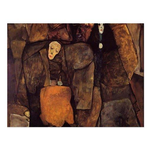 Egon Schiele- Procession Postcard